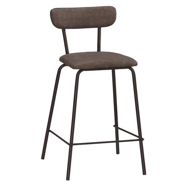 【森可家居】布朗克斯吧椅(高)(皮) 8CM1045-8 吧台椅