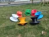 旋轉陀螺椅 商場360度旋轉陀螺椅子不倒翁凳子成人創意趣味休閒椅抖音陀螺椅T多色