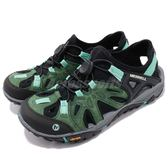 Merrell 戶外鞋 All Out Blaze Sieve 運動鞋 越野 登山 綠 黑 休閒鞋 涼拖鞋 女鞋【PUMP306】 ML12728