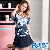 【Summer Love 夏之戀】大女褲連裙長版三件式泳裝(S19702)