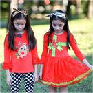 女童套裝 洋裝 麋鹿 聖誕節造型 禮物造...