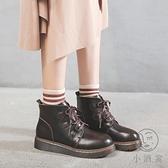 馬丁靴女日系春秋單靴厚底百搭短靴【小酒窩服飾】