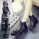 中跟短靴-歐美英倫風流行大方女馬丁靴73is5[時尚巴黎]