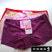 吉妮儂來 6件組舒適輕柔時尚花紋無痕褲(隨機取色)