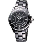 Diadem 黛亞登 F4 晶鑽時尚陶瓷手錶-黑/40mm 2D0132SD