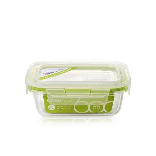 韓國KOMAX 耐熱玻璃保鮮盒-長方型(640ml) -環保餐具保溫便當盒儲物盒