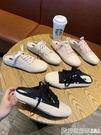 無後跟懶人鞋女2019夏季新款韓版方頭百搭網紅帆布鞋半拖時尚外穿 印象家品