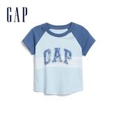 Gap男嬰徽標LOGO印花短袖T恤577263-天藍色