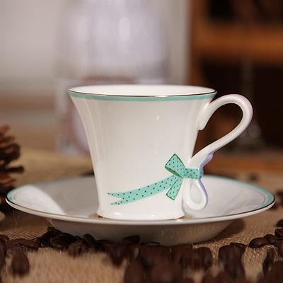 【一杯一碟】瓷歐式高檔茶具杯