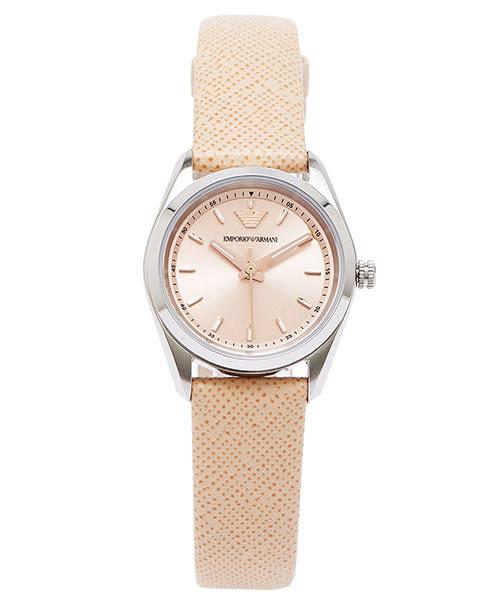 EMPORIO ARMANI  Sportivo 浪漫春日女性手錶(AR6032)-粉橘色面X粉橘色/25mm