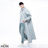 【MORR】Dimensional 前開雨衣【紐約灰】超大後背空間/容納後背包/連身雨衣/機車