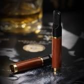 雙槍檀木實木煙嘴過濾器循環型可清洗木質香菸過濾嘴凈煙器清肺男 萬客城