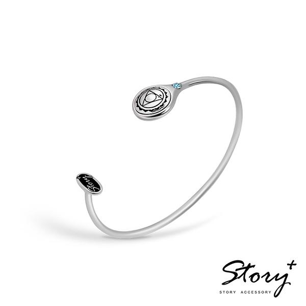 《 SilverFly銀火蟲銀飾 》STORY脈輪系列 喉輪Throat Chakra純銀手環