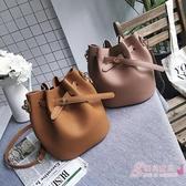 新品購物袋大包包水桶包女簡約百搭肩背包撞色正韓手提包女包 【快速出貨】