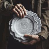日式餐具盤子菜盤家用復古牛排盤家用早餐盤創意西餐盤   遇見生活