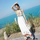 雪紡連身裙海邊度假沙灘裙長裙女夏學生