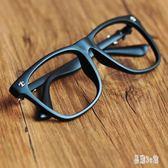 眼鏡框 韓版鏡片裝飾眼鏡框架 沒有磨砂黑賣萌新款zzy7800『易購3c館』