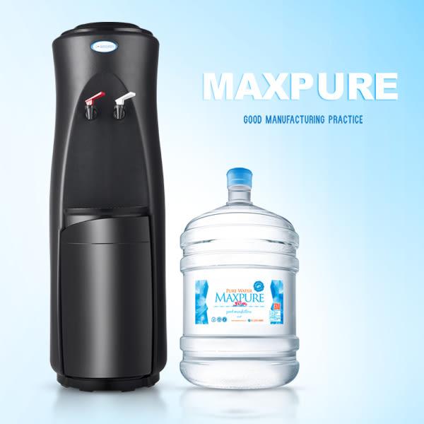 立式溫熱飲水機(黑)+純水(A:17.25公升20桶 / B:12.25公升30桶,A或B擇一)