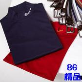 *86精品*2017春裝 白色 薄立領 套頭 長袖 T恤 上衣 內搭款 【15001-10】