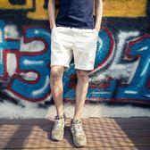 休閒褲文藝男 夏季情侶直筒簡約熱褲男士純色短褲五分褲休閒褲子潮 魔方數碼館