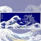日本製 怪獸哥吉拉手拭 手帕 頭巾 桌巾 夾式門簾 裝飾 Godzilla