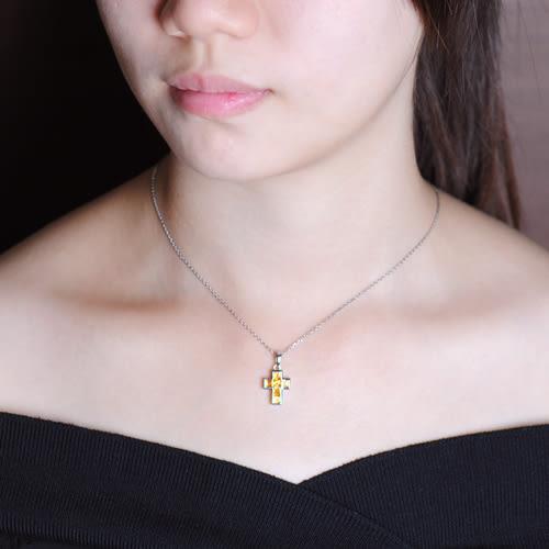 蘇菲亞SOPHIA - 玩美寶石系列 十字架造型黃水晶項鍊