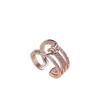 新品秒殺歐美氣質鑲鑽打結指環同款開口戒指時尚食指關節戒