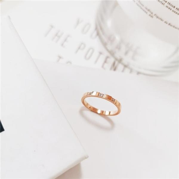 冷淡風簡約網紅玫瑰金鈦鋼食指戒不掉色女戒女士時尚個性戒指女潮 限時8折鉅惠