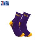NBA 湖人隊 運動襪 籃球襪 MIT 運動配件 毛圈緹花中筒襪
