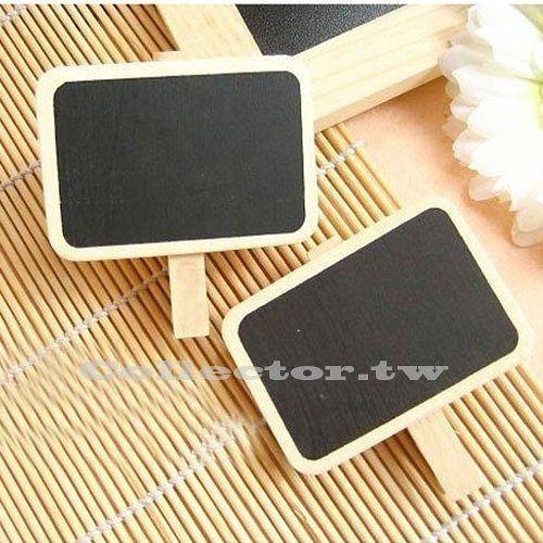 韓版 超迷你原木小夾子黑板 夾子留言板 (黑板範圍4.5*2cm)