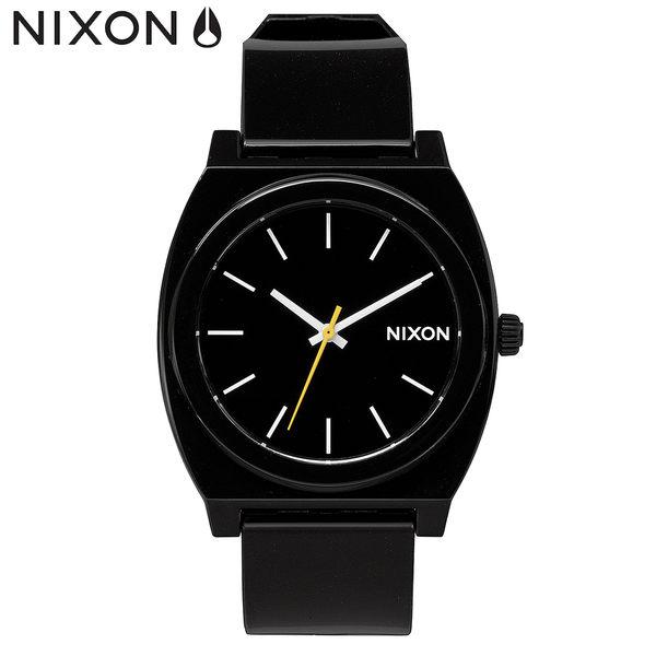 NIXON 手錶 原廠總代理 A119-000 THE TIME TELLER P 黑色 潮流時尚膠錶帶 男女適用 生日 情人節禮物