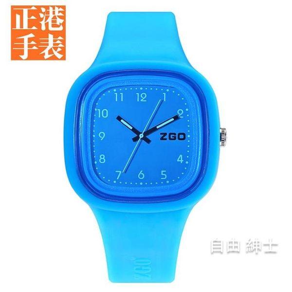 兒童手錶 正韓中學時尚可愛休閒女童防水果凍硅膠兒童女孩子男孩手錶 1件免運