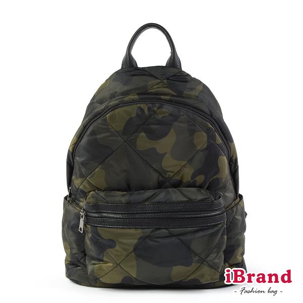 iBrand後背包 輕盈尼龍空氣包媽媽包後背包-迷彩 TYH-T02