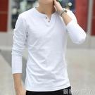 男士純棉長袖t恤上衣服男裝春夏打底衫潮流韓版加絨衛生衣短袖 蘿莉小腳丫