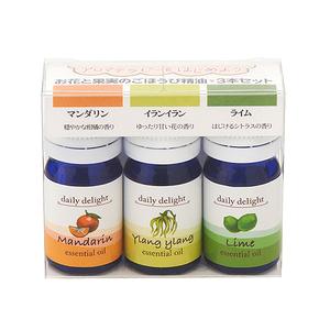 日本Daily delight精油3 入組(柑橘 依蘭 萊姆)