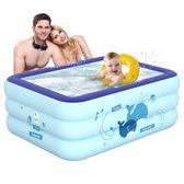 嬰兒游泳池 家用寶寶幼兒洗澡桶加厚保溫新生兒童小孩充氣戲水池 滿天星