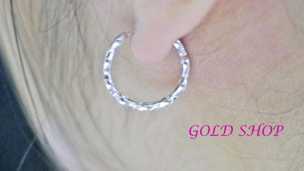 ╭☆ gold shop ☆╯白K金 耳環 [ ke 010 ]