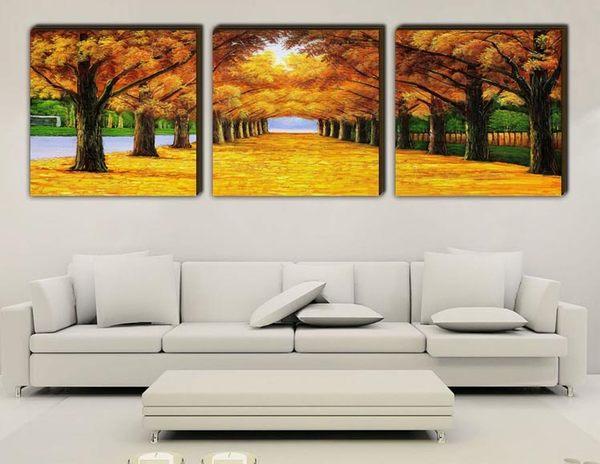 裝飾畫客廳現代 無框畫 版畫 壁畫 家居飾品 黃金大道 1777YG-168381