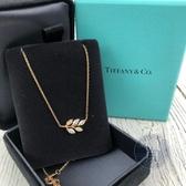 BRAND楓月 TIFFANY&CO. 蒂芬妮 OLIVE LEAF 橄欖葉 鑽石 K18 項鍊