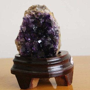 紫晶片風水擺件