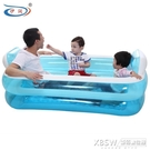 伊潤兒童充氣家庭游泳池嬰幼兒戲水池成人大浴缸海洋球池家用折疊CY『新佰數位屋』