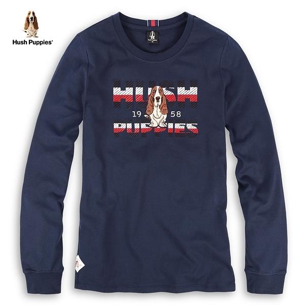 Hush Puppies T恤 女裝字母三色立體刺繡造型T恤