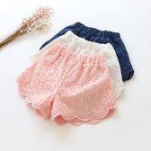兒童女童蕾絲短褲夏季薄款沙灘熱褲