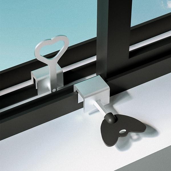 愛為你窗戶鎖扣鋁合金紗窗門窗鎖推拉門鎖兒童防護安全鎖限位器 樂活生活館