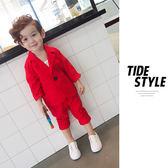 男童小西裝套裝花童禮服兒童西服韓版英倫帥氣小孩衣服休閒兩件套 LI2833『時尚玩家』