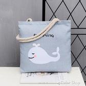 帆布包女單肩大包包新款ins韓國版簡約百搭大容量手提包color shop