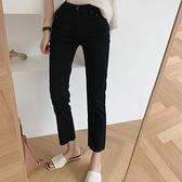 黑色牛仔褲女直筒褲寬鬆新款秋裝高腰修身顯瘦八分煙管九分褲 雙十二全館免運