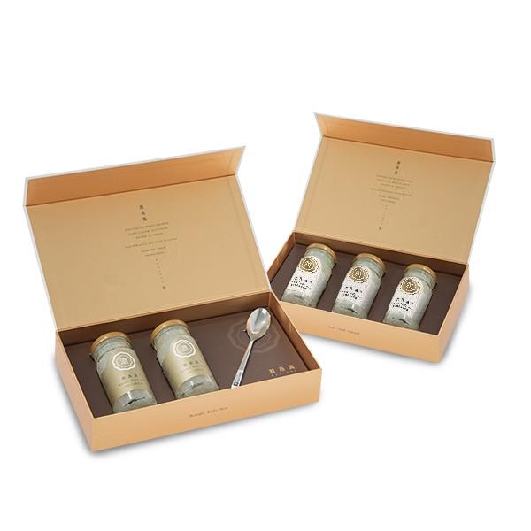 【潤燕窩】雙贏禮盒(市值$7300)24K極濃燕窩2入(附湯匙)+黃金特潤冰糖燕窩3入 免費贈保冷袋
