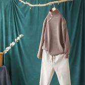 高領針織衫慵懶百搭韓版套頭毛衣四色可選/設計家Y11046