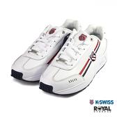 K-swiss 新竹皇家 Emstev 白色 皮質 緩衝 休閒鞋 男女款 NO.B0506-I9610